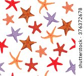 starfishes color pattern | Shutterstock .eps vector #376372678