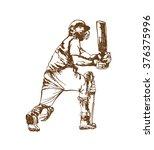 poss of hitting ball in cricket ...   Shutterstock .eps vector #376375996