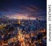 amazing view to tokyo city... | Shutterstock . vector #376376692