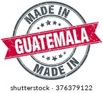 made in guatemala red round...