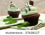 Creme De Mint Cupcake