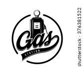 vintage gasoline retro label | Shutterstock .eps vector #376381522