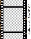 black 35 mm movie film strip | Shutterstock .eps vector #376386556