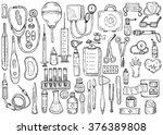 big medical set including... | Shutterstock .eps vector #376389808
