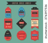 easter sale shopping labels... | Shutterstock .eps vector #376397536