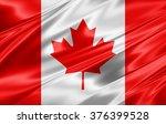 canada flag of silk | Shutterstock . vector #376399528