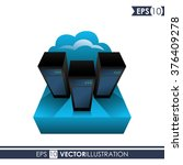 data center design  | Shutterstock .eps vector #376409278