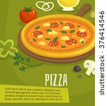 pizza poster   menu layout... | Shutterstock .eps vector #376414546