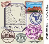 stamp set with the name and map ... | Shutterstock .eps vector #376425262