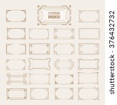 big set of art deco western... | Shutterstock .eps vector #376432732
