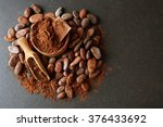 Bowl With Aromatic Cocoa Beans...