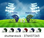 india vs pakistan  cricket... | Shutterstock .eps vector #376437265