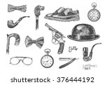 victorian era collection ... | Shutterstock .eps vector #376444192