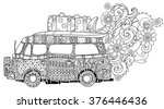 hand drawn doodle outline retro ... | Shutterstock .eps vector #376446436