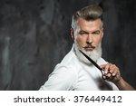 portrait of stylish... | Shutterstock . vector #376449412