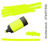 yellow colored high lighter...   Shutterstock .eps vector #376457506