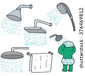 vector set of shower | Shutterstock .eps vector #376469812