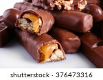 mix of chocolate on table ... | Shutterstock . vector #376473316