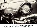 Classic Car With Close Up On...