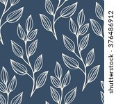 seamless pattern with leaves.... | Shutterstock .eps vector #376486912