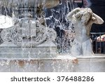 Detail Of The Amenano Fountain...