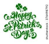 Saint Patricks Day Card Design...