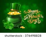 Saint Patricks Day Card With...