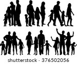 vector silhouette of family. | Shutterstock .eps vector #376502056