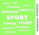 illustration words sport ... | Shutterstock .eps vector #376502392