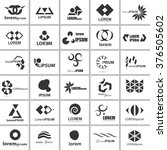 unusual icons set   isolated on ... | Shutterstock .eps vector #376505602
