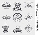 bicycle badge insignia for any... | Shutterstock .eps vector #376506616