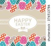 easter eggs. vector of easter... | Shutterstock .eps vector #376513786