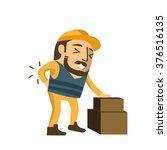 construction worker injuring... | Shutterstock .eps vector #376516135