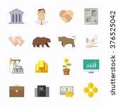 multicolor stock exchange... | Shutterstock .eps vector #376525042