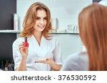 women's manicure  nail polish ... | Shutterstock . vector #376530592