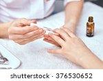women's manicure  nail polish ... | Shutterstock . vector #376530652