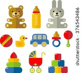 set of baby flat icons | Shutterstock .eps vector #376543486