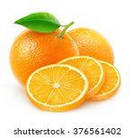isolated oranges. cut orange... | Shutterstock . vector #376561402