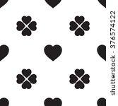 monochrome seamless pattern... | Shutterstock .eps vector #376574122