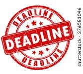 deadline rubber stamp  vector... | Shutterstock .eps vector #376581046