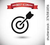 target icon vector | Shutterstock .eps vector #376581856