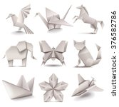 origami icons detailed photo... | Shutterstock .eps vector #376582786