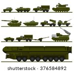 set of armed forces units.... | Shutterstock .eps vector #376584892