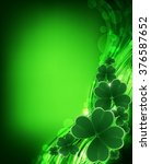 saint patricks day background.... | Shutterstock .eps vector #376587652