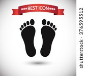 footprint icon vector | Shutterstock .eps vector #376595512