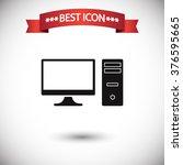 pc icon vector