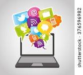social network design  | Shutterstock .eps vector #376596982