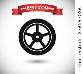 Постер, плакат: Wheel icon vector wheel