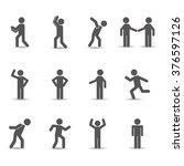 men sign design  | Shutterstock .eps vector #376597126