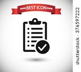check list icon vector | Shutterstock .eps vector #376597222